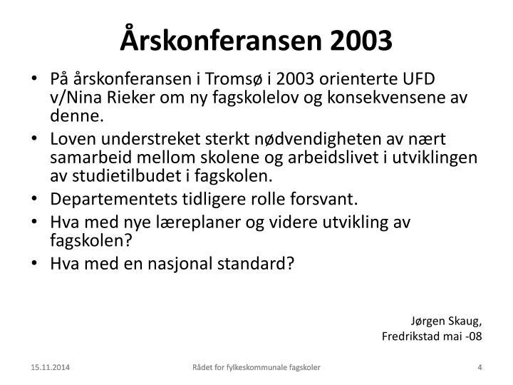 Årskonferansen 2003