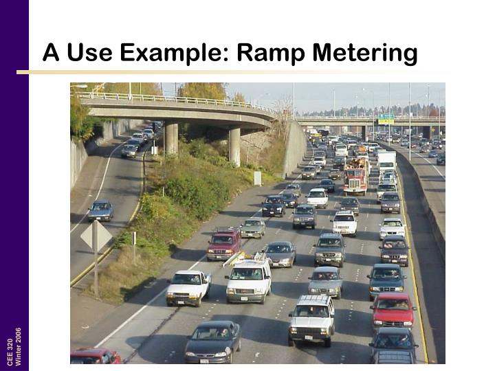 A Use Example: Ramp Metering