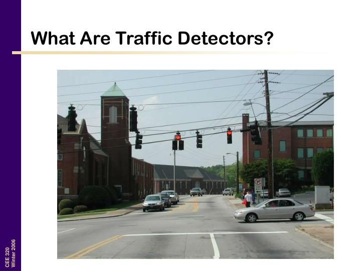 What are traffic detectors
