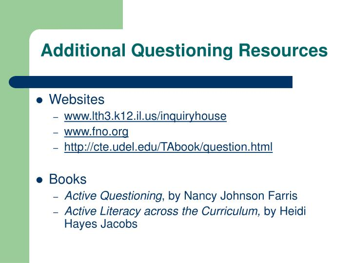 Additional Questioning Resources