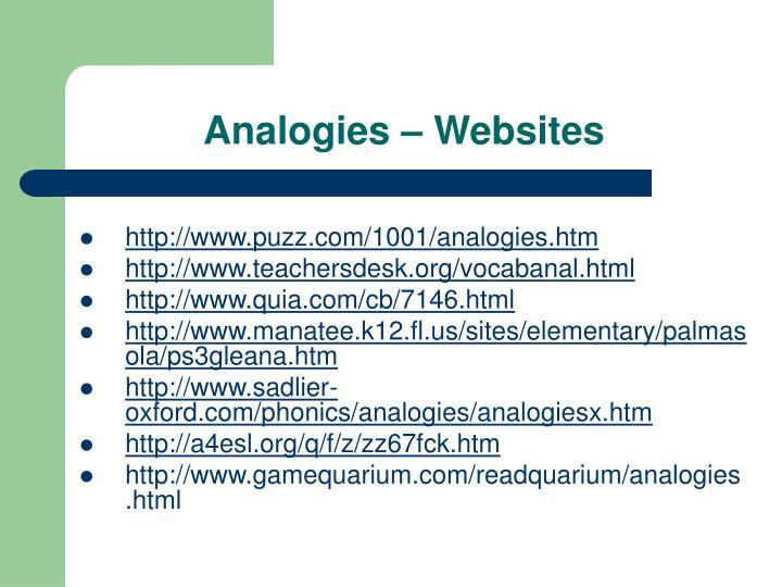 Analogies – Websites