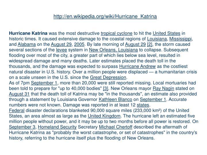 http://en.wikipedia.org/wiki/Hurricane_Katrina