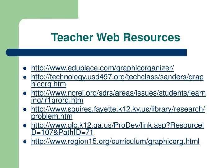 Teacher Web Resources