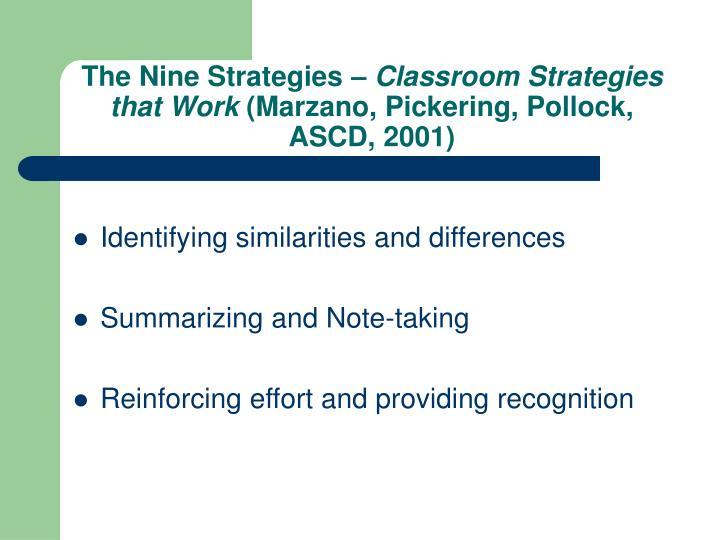 The Nine Strategies –