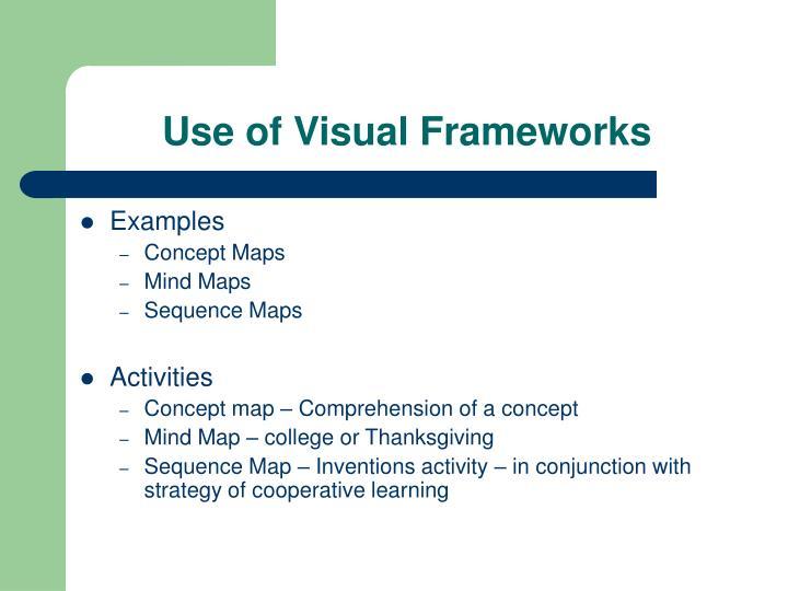 Use of Visual Frameworks