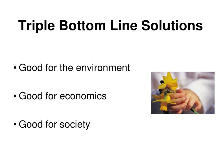 Triple Bottom Line Solutions