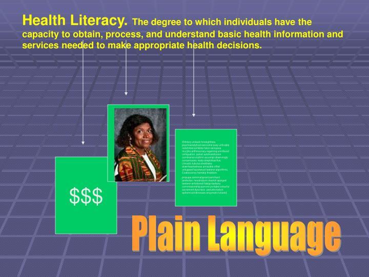 Health Literacy.
