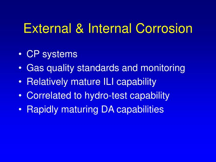 External & Internal Corrosion