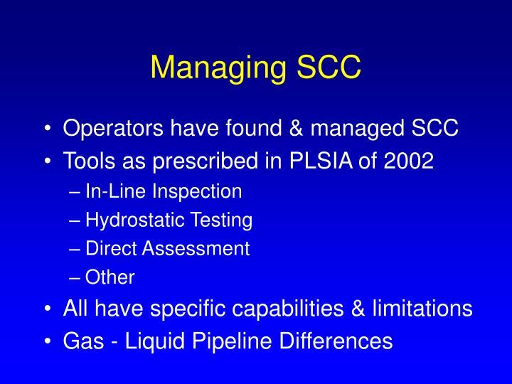 Managing SCC