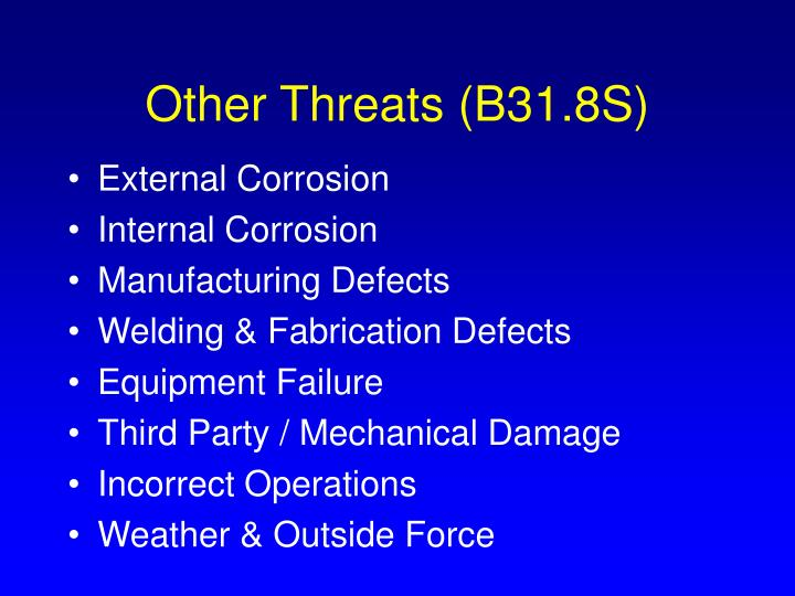 Other Threats (B31.8S)