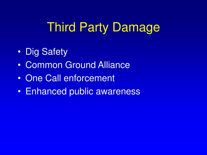 Third Party Damage