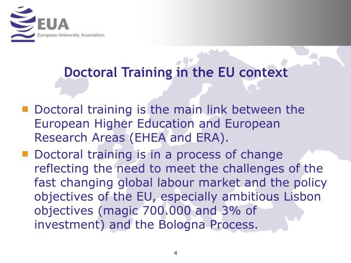 Doctoral Training in the EU context