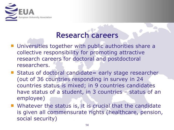 Research careers