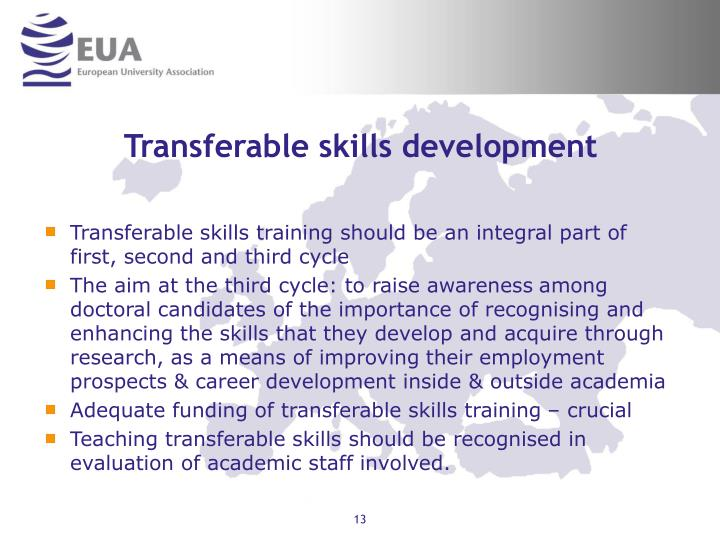 Transferable skills development