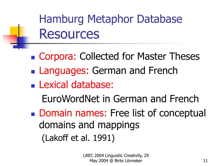 Hamburg Metaphor Database