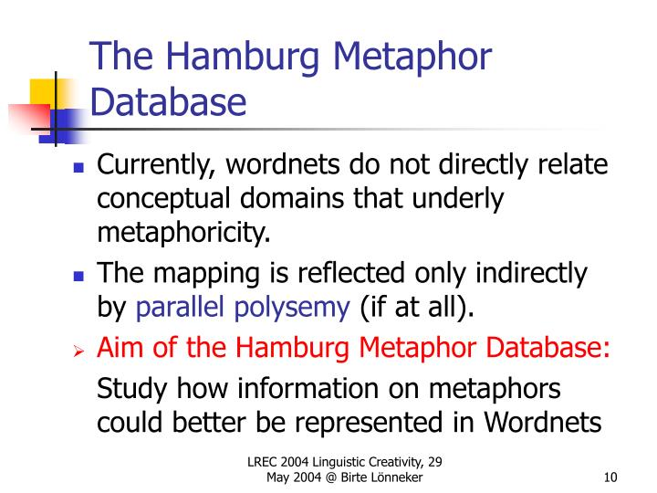 The Hamburg Metaphor Database