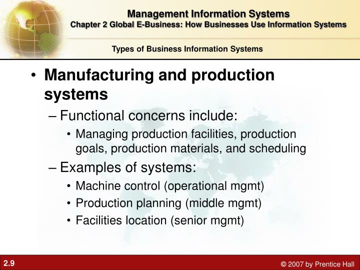 Manufacturing and production systems