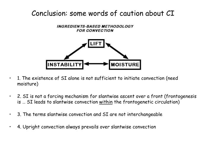 Conclusion: some words of caution about CI