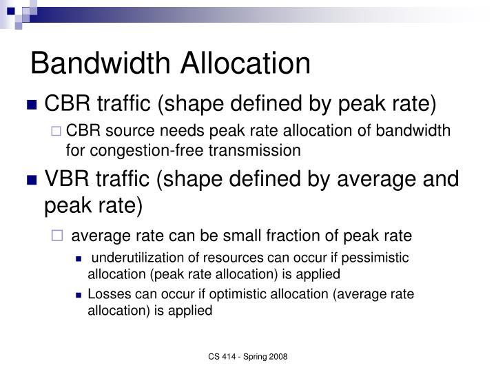 Bandwidth Allocation