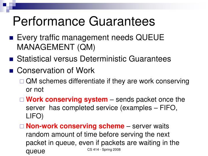 Performance Guarantees