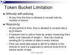 token bucket limitation