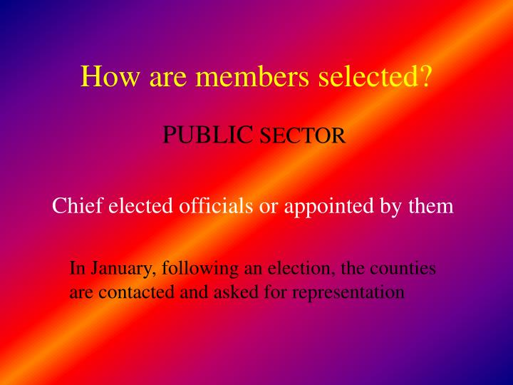 How are members selected?