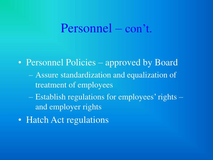 Personnel –
