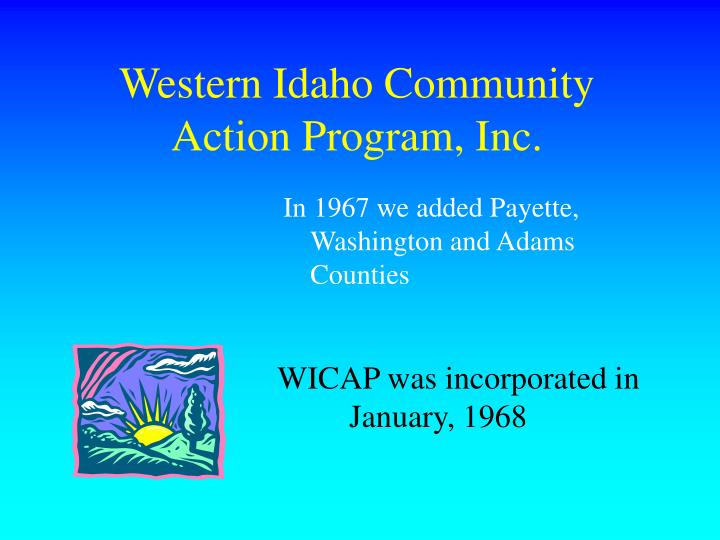 Western Idaho Community Action Program, Inc.