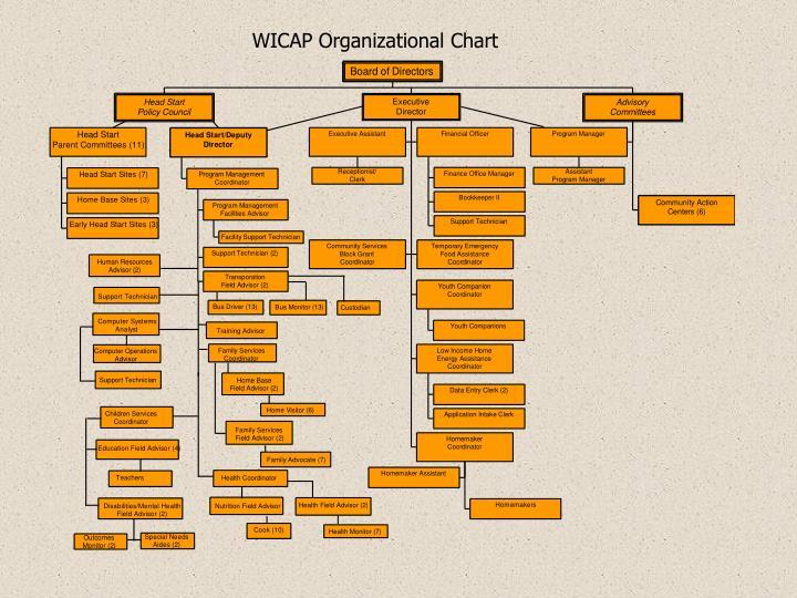 WICAP Organizational Chart