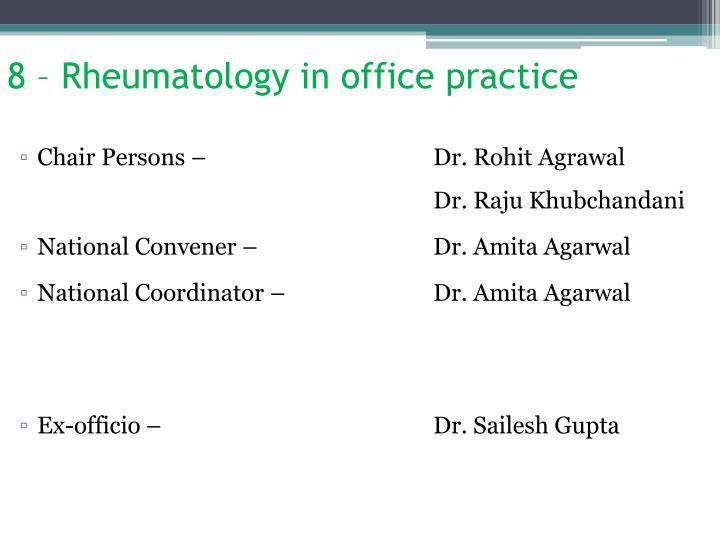 8 – Rheumatology in office practice
