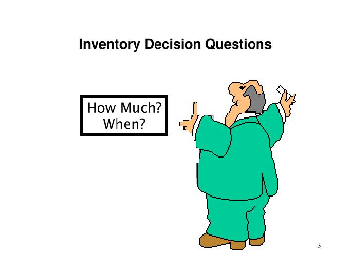 Inventory Decision Questions