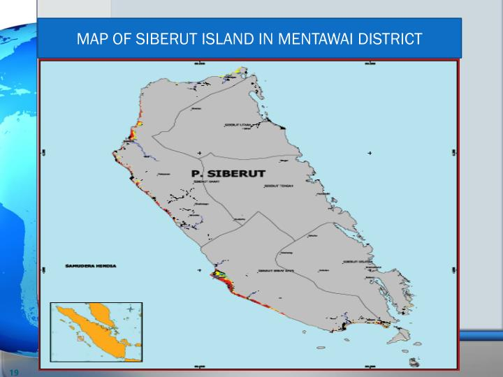 MAP OF SIBERUT ISLAND IN MENTAWAI DISTRICT