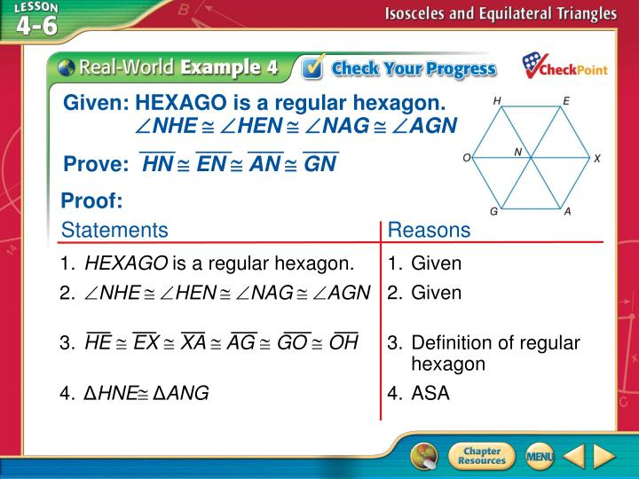 Given: HEXAGO is a regular hexagon.