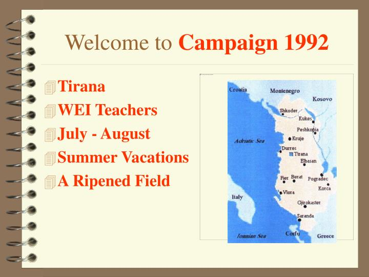 Welcome to campaign 1992
