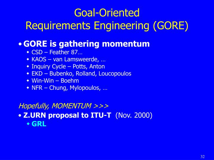 Goal-Oriented