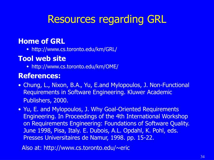 Resources regarding GRL