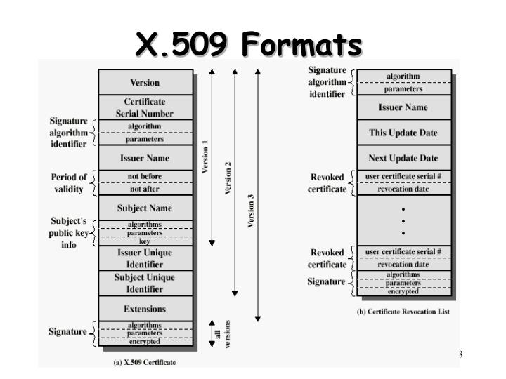 X.509 Formats