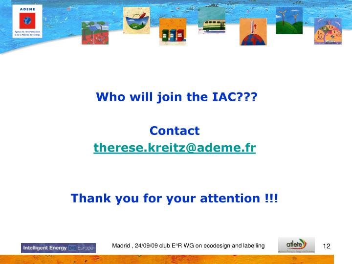 Who will join the IAC???