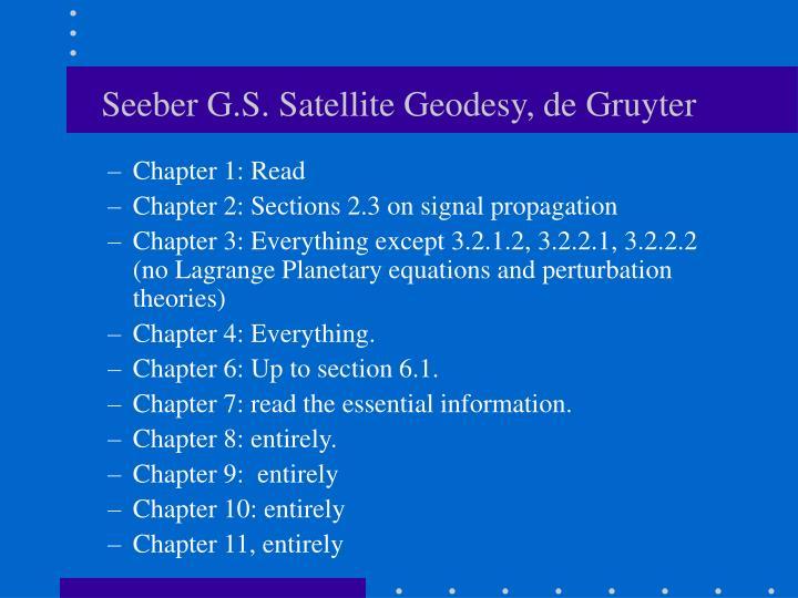 Seeber G.S. Satellite Geodesy, de Gruyter