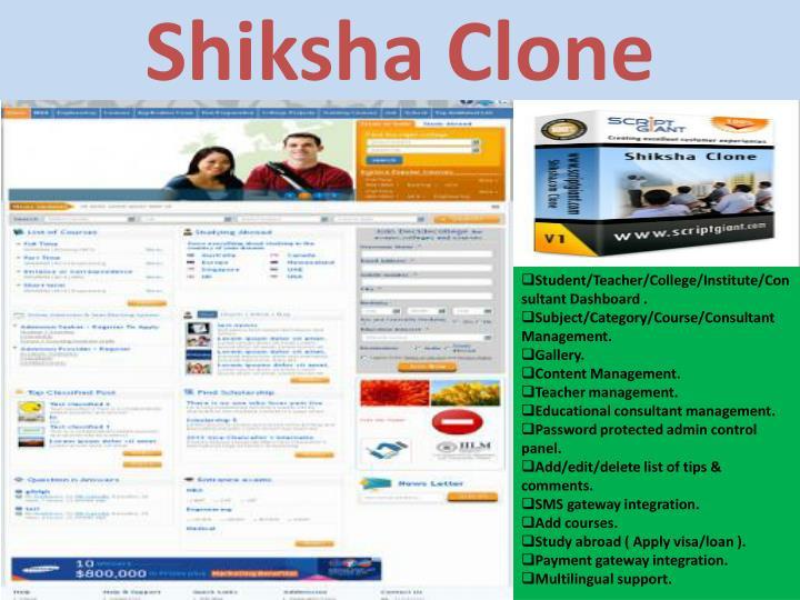 Shiksha Clone