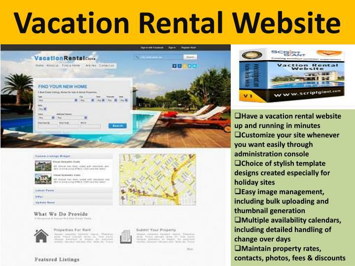 Vacation Rental Website