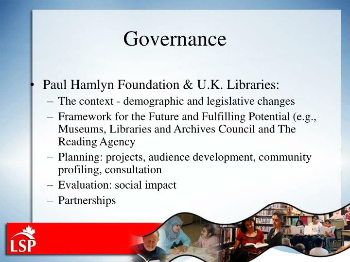 Paul Hamlyn Foundation & U.K. Libraries: