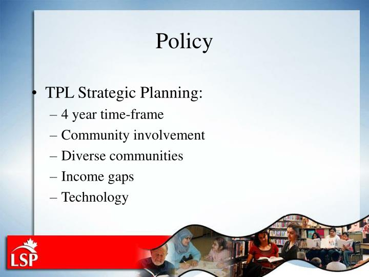TPL Strategic Planning: