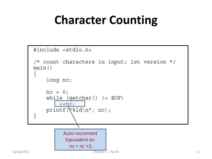 Character Counting