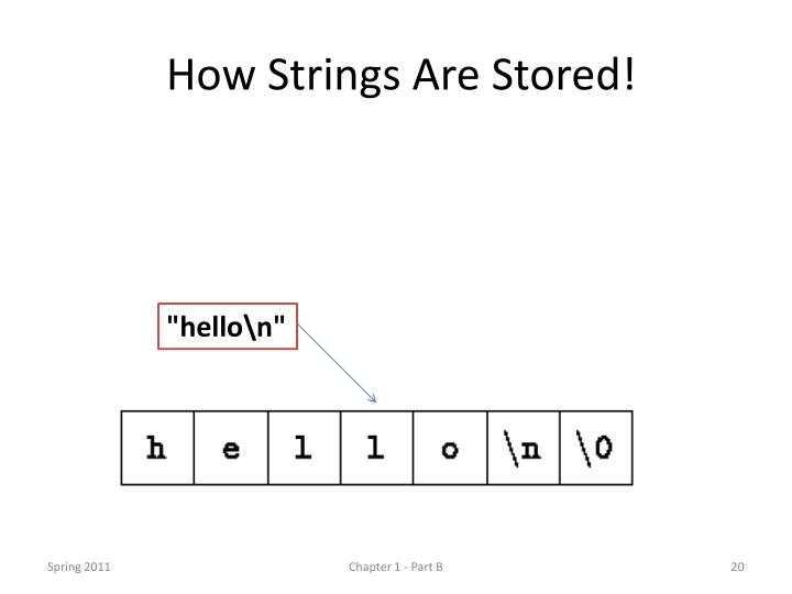 How Strings Are Stored!