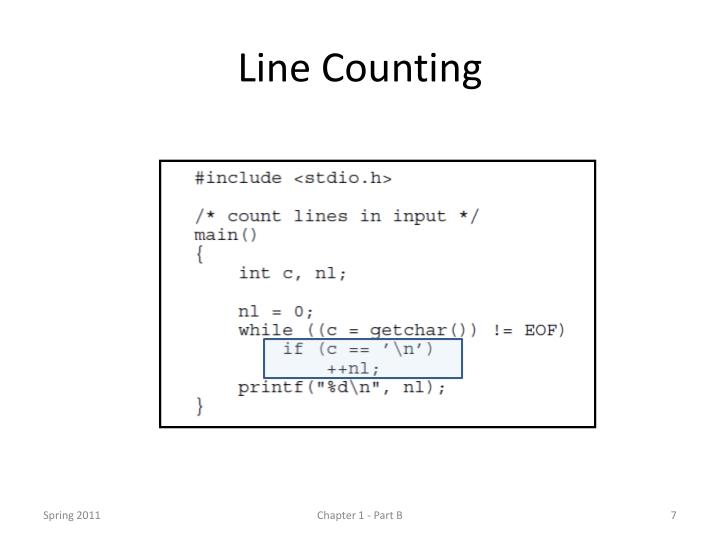 Line Counting