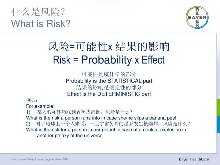 什么是风险?