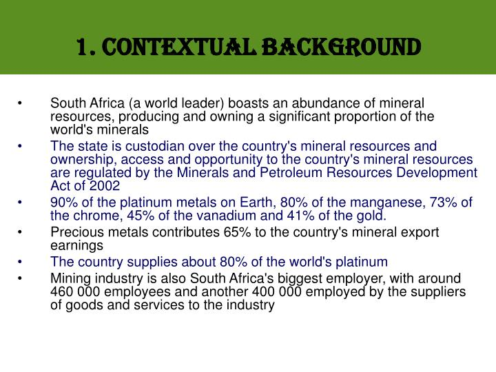 1. Contextual Background