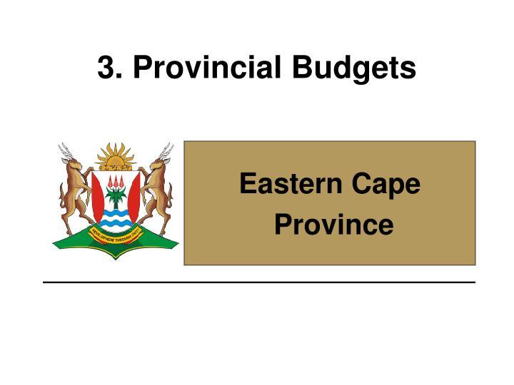 3. Provincial Budgets