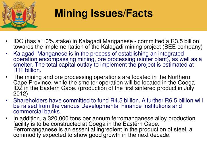 Mining Issues/Facts
